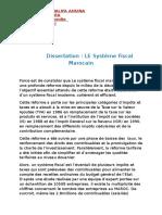Dissertation LE Systeme Fiscal Marocain (1)