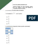 Banco de Talleres Matematicas y Español Postprimaria