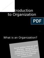 1. Introduction to Organization