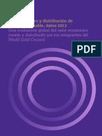 Responsible Gold Mining Value Distribution 2013 Spanish