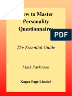 Mark.parkinson.phd How.to.Master.personality.questionnaires