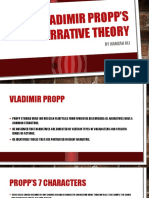 Vladimir Propp's Narrative Theory