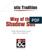 D&D5e - Class - The Way of the Shadow Sun - Monastic Tradition