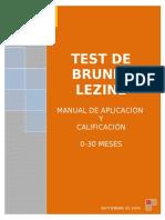 Brunet-Lèzine Manual Calificación 0-30 Meses