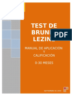 Brunet-Lèzine Manual Calificación 0-30 Meses