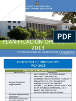 Propuesta de Productos Poa 2013
