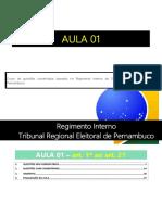 Aula 01 - Regimento Interno Do Tribunal Regional Eleitoral de Pernambuco