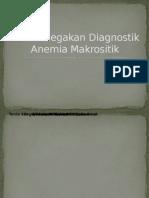 Alur Penegakan Diagnosos Anemia Makrositik