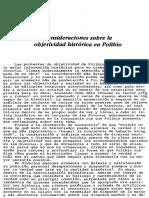 Nemo - La Objetividad Historica de Polibio