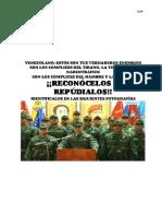 Militares Que Acompañaron a Padrino en Alocución Contra la Asamblea Nacional