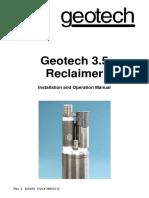Geotech 3-5 Reclaimer 26600112