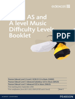 GCSE as and a Level Music Difficulty Levels Booklet