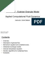 Eulerian Granular Model