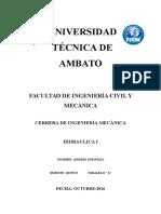 Fluidos No Newtonianos. Andres Espinoza 5 A