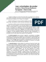 Derrida a Gadamer - Las buenas voluntades de poder.doc