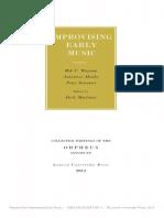 SCHUBERT From Improvisation to Composition Three 16th-Century Case Studies