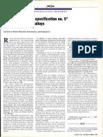 ADA Specification n 5 - Casting Alloys