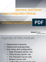 Module 03 - Exchange 2010 Setup, Deployment, And Server Role Configuration