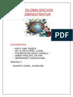 La Globalizacion Administrativa