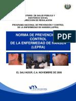 Norma de Prevención y Control de La Enfermedad de Hansen Lepra