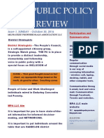 MPA Public Policy REVIEW Newsletter