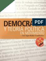 Democracia y Teoria Politica Luis Tapia Mealla Coordinador