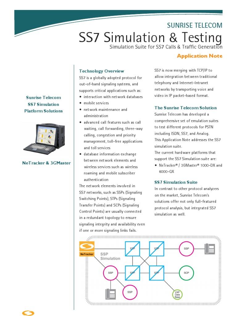 SS7 Simulation | Telecommunication | Computer Network