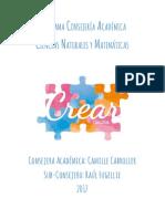Programa Consejería Académica CCNNyMM Crear 2017