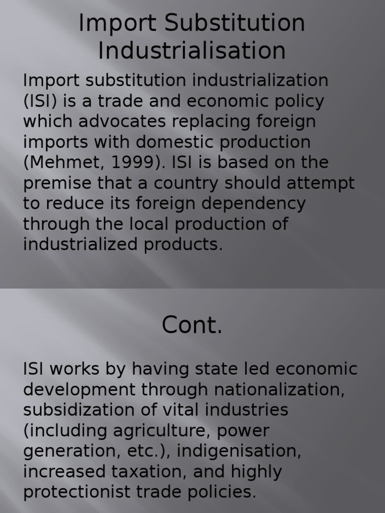 what is import substitution policy