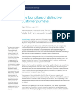The Four Pillars of Distinctive Customer Journeys