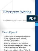 descriptive writing staff meeting 11th march complete