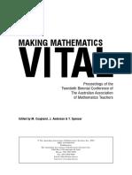 Making Mathematics Vital, 422 Pages
