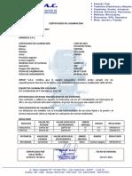 Certificado de Calibracion 1769 Topcon Gts-236w