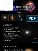 Quasars, Neutron Stars, And Black Holes