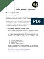 11ª Avance Mensual de Gestión del CF EE.GG.CC. - Octubre