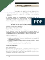 Informe de Operaciones Financieras