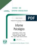Informe Psicologico Heredia y Ancona Santaella Hidalgo Somarriba Rocha TAD 7 Sem