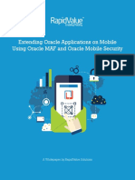 Extending Oracle Applications on Mobile Using MAF and Oracle Mobile Security a Whitepaper by RapidValue Solutions