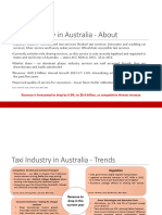 Taxi Industry Australia - Trends 2016