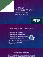 Tema 3 Áreas Funcionales de La Empresa y Su Clasificación