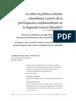 Política Exterior Colombiana en La Segunda Guerra Mundial