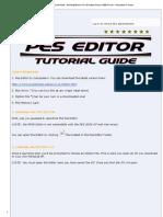 PES Editor Tutorial Guide - Winning Eleven