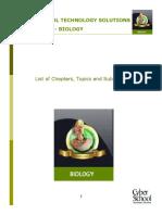 CSTS List of Topics Biology