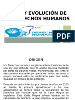 Origen y Evolucion de Los Derechos Humanos