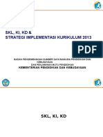 Ppt 1.2. Skl Ki Kd & Strategi Implementasi Kurikulum 2013