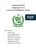 Pakistan's Constitution of 1973