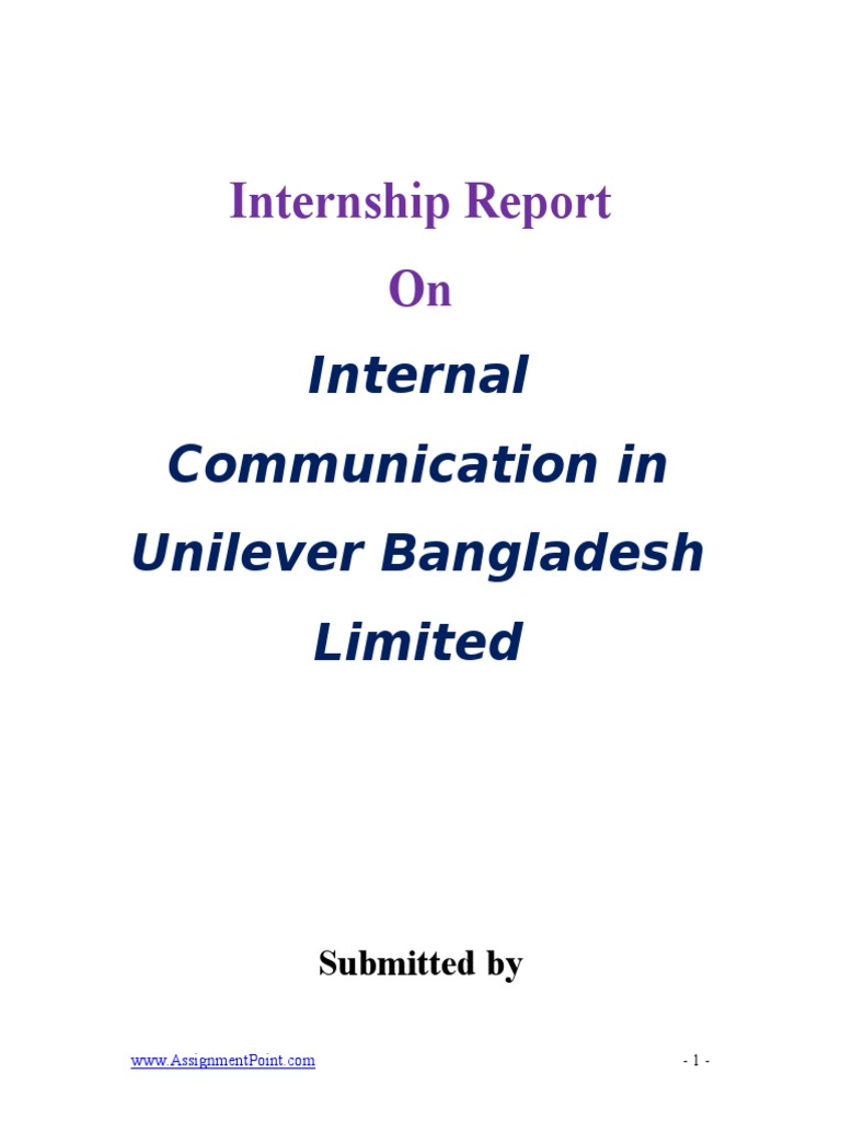 Report on internal communication in unilever bangladesh limited report on internal communication in unilever bangladesh limited strategic planning strategic management biocorpaavc Images