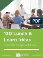 130 Lunch Learn Ideas