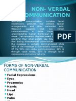 Non- Verbal Communication - Business Comm