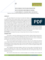 Assessment of Impact of Outages in Selected Electricity Intensive Industries in Nigeria